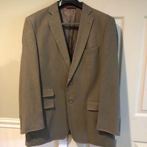 Bianco Brioni Loro Piana Beige Linen Suit